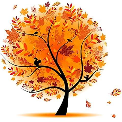 OBELLA Malen nach Zahlen Kits    3 15 bunt Tree of Life 3 von 15 Bunter Baum des Lebens 50 x 40 cm    Malen nach Zahlen, DIGITAL Ölgemälde (Mit Rahmen)