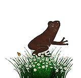 Nostalgic Garden Gartendeko Gartenstecker Roststecker Frosch Edelrost Design - P