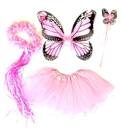 Tante Tina Schmetterling Kostüm Mädchen - 4-teiliges
