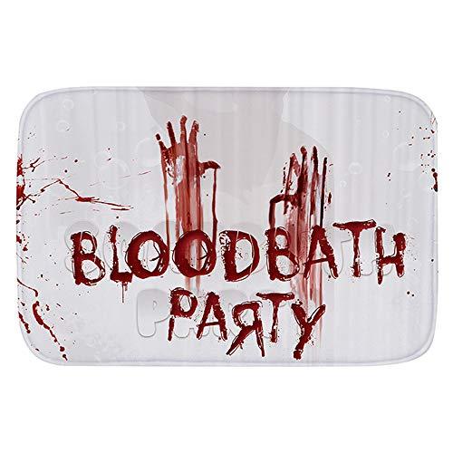 Hukz Halloween heiße Serie Teppich:Blut Fußabdruck Badematte Tür Matte Scary Horror Stil Halloween Dekoration Hot(40 X 60cm) (Farbe:40 X 60cm)