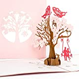 "Pop-Up Karte ""Butterflies in Love"" - 3 D Hochzeitskarte"