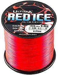 Ultima Hi Viz Red Ice & Lo Viz Black Ice (4oz Bulk carretes) línea de monofilamento, pesca de playa y barco, Red Ice, 12lb / 5.5kg to 0.32mm