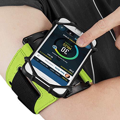 ABREOME Sportarmband für iPhone, Sport Armband 180° Drehbar Running Armband Kompatibel mit iPhone6/6S/7/8, iPhone X/XS, Galaxy S5/S6/S7, für Laufem,Joggen,Fitness (Grün) (Iphone6 Fitness-armband)