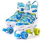 meteor® Retro Rollschuhe: Disco Roller Skate wie in den 80er Jahren, Jugend Rollschuhe, Kinder Quad Skate, Farbvarianten - Inlay