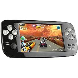Consoles de Jeux Portables, 3000 Jeux Rétro Jeu Vidéo Portable 4,3 Pouces 16 Go Consoles avec Caméra (Noir)