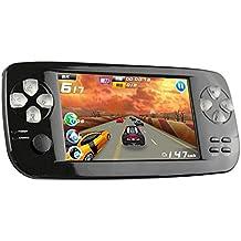 CXYP consolas de juegos de mano, 4,3 pulgadas 4 GB portátil videojuego construido en 600 juegos con cámara (negro)