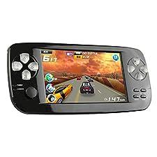 CHUANGXINYOUPIN Handheld Spiele Konsolen, 4,3 Zoll 4GB Portable Video Game Errichtet in 653 Spiele mit Kamera (Schwarz)