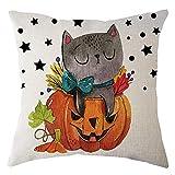 ODJOY-FAN Halloween Kürbis Kissen Abdeckung,Platz Kissen Fall Zuhause Dekor Pillowcase Baumwolle Leinen KissenFall