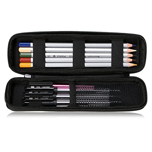 feelily EVA Hartschale Eingabestift Bleistift Fall Halter Box für Executive Füllfederhalter Kugelschreiber Tablet Handy Stylus Touch Pen Apple Bleistift Wacom Creative Stylus 2(schwarz) Executive-box
