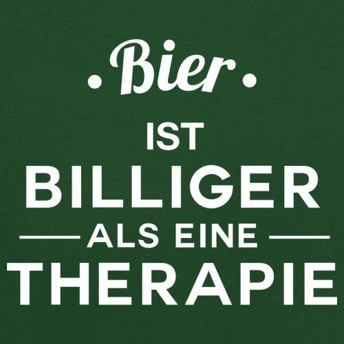 Bier ist billiger als eine Therapie - Herren T-Shirt - 13 Farben Flaschengrün