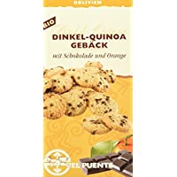 El Puente Dinkel-Quinoa-Gebäck mit Schokolade & Orange, 6er Pack (6x 150 g Packung) - Bio