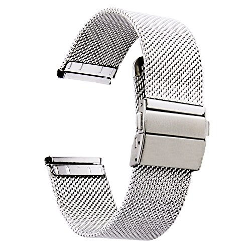 [ZHUGE] Watch straps - New double-pressure style Clasp clasp Milanese Mesh Watch strap from 18 mm 20 mm 22 mm