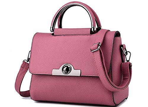 Xinmaoyuan Handtaschen der Frauen Lady Messenger Bag Umhängetasche kleine Quadratische Tasche Rosa