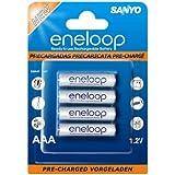 Sanyo-eneloop-pile rechargeable niMH-micro aAA-hR - 4UTG 800 mAh-lot de 4