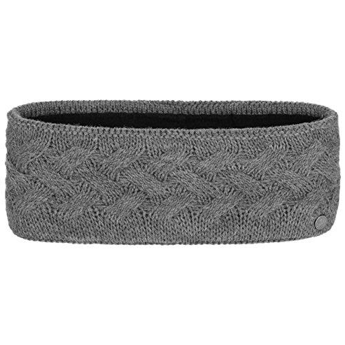 Fauske Stirnband Lierys für Damen Ohrenband Ohrenwärmer mit Futter, mit Futter Herbst Winter (One Size - grau)