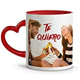 Lolapix - Taza asa + Interior corazón Rojo Personalizada con tu Foto, diseño o Texto, Original y Exclusivo. Regalo para Enamorados. Tazas con Amor.
