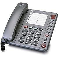 amplicomms PowerTel 90, Schnurgebundenes Großtastentelefon Zum Besseren Hören und Sehen, Hörgerätekompatibel