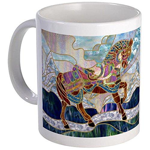 CafePress-und Karussell Pferd-Einzigartige Kaffee Tasse, Kaffeetasse, Mega weiß