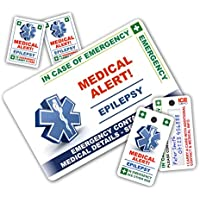 ICECARD EPILEPSY In Case of Emergency (I.C.E.) Card Pack with Key Rings & Stickers from Suitable for those who suffer epileptic seizures