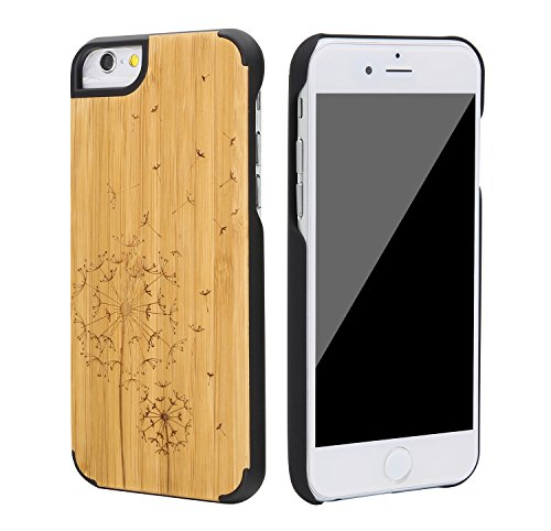 """SunSmart Housses classique en bois iPhone 6 Plus Housse en bois naturel de protection pour iPhone Plus 5.5""""-26 26"""