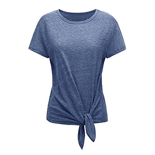 ZEELIY-T Shirt Damen Sommer 2019 Lässiges kurzärmeliges, festes O-Neck T-Shirt