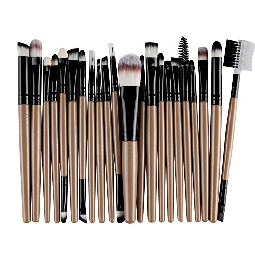 MRULIC 22pcs Make UP Pinsel Pinselset Schminkpinsel Kosmetikpinsel Kosmetik Brush (W-22Stück)