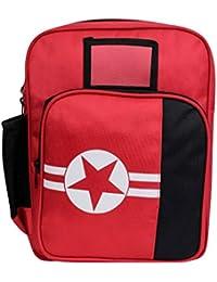 "Bleu Star Print Kids School Bag - (Red-14"" SB42, Dimensions (LxBxH):- 11x4x15 Inches)"
