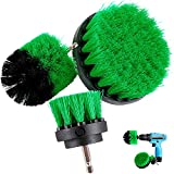 HENGQIANG bürstenaufsatz bohrmaschine Power Scrubber Attachment Kits, 3 Stück Reiniger Scrubbing Bürsten für Allzweck-Badezimmer Oberfläche, Fugenmasse, Wanne, Dusche, Küche