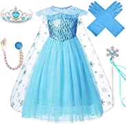 VanStar Snow Queen Costumes,Dress Girls Party Cosplay Girl Clothing Snow Queen Birthday Princess Dress Kids Co
