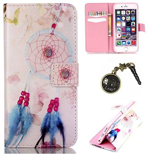 PU Silikon Schutzhülle Handyhülle Painted pc case cover hülle Handy-Fall-Haut Shell Abdeckungen für (Apple iphone6 6S (4.7Zoll) +Staubstecker (16)