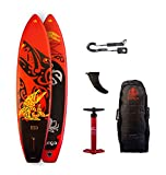 RUNGA TOA Air 10.6 Inflatable Sup mit 25 PSI/1,7 Bar Max Druck iSUP Stand up Paddle Board + Bravo DOPPELHUB-Pumpe