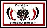U24 Fahne Flagge Deutschland meine Heimat meine Liebe Bootsflagge Premiumqualität 20 x 30 cm