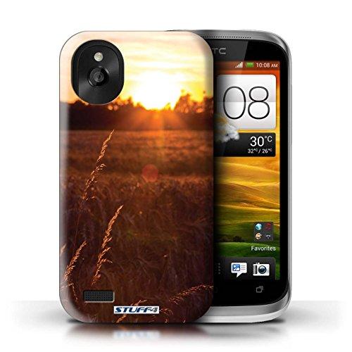 Kobalt® Imprimé Etui / Coque pour HTC Desire X / limite forestière conception / Série Coucher du Soleil Champ de maïs