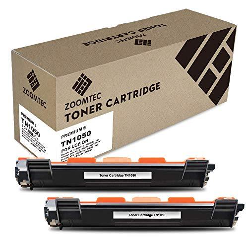 ZOOMTEC Compatibile Cartucce Toner Compatibili per Brother TN1050 TN-1050 per Brother HL-1110 HL-1112 HL-1210W HL-1212W DCP-1510 DCP-1512 DCP-1610W DCP-1612W MFC-1810 MFC-1910 MFC-1910W(2 Nero)