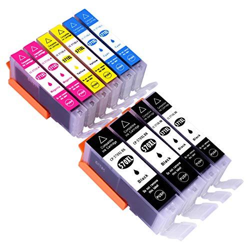 ESMOnline 10 XL komp. Druckerpatronen Ersatz zu Canon PGI-570 CLI-571 mit Chip TS 5050 MG 5750 TS 5055 6050 MG 6850 5751 6851 TS 5051 5053 6051
