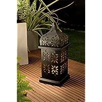 XL LED Lampada solare Giardino Lanterna Metallo verniciato polvere - Grande Progettazione con flackernder e Sensore luce - fatta alta qualità a fabbricati - fantastica in filigrana Lavorazione