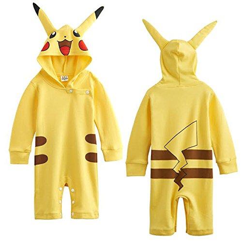Inspired by Nintendo Baby Jungen (0-24 Monate) Bekleidungsset gelb 18-24 (Kinder Kostüme Pokemon)