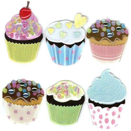 winston-pegatinas-decorativas-papel-de-vitela-diseno-de-cupcakes-multicolor