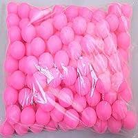 Coface 150Pcs Scrub Tischtennisball Ping Pong Ball Lotteriekugeln Rose