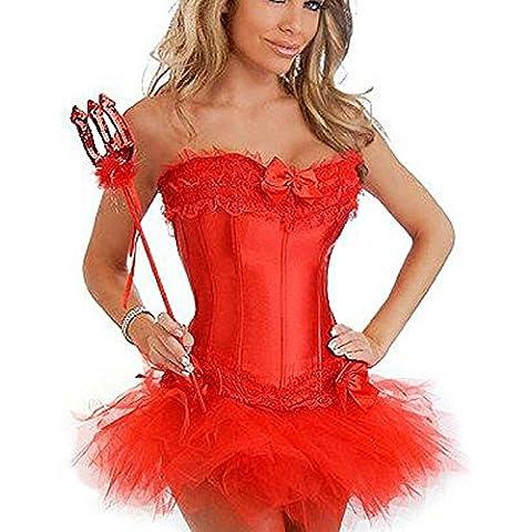 all-steel Palace corsetto sexy matrimonio Corsetti Gilet Poliestere Corsetto, Red,