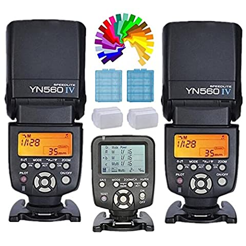 YONGNUO YN560 Ⅳ Flash Speedlite Transceiver Integrated + Yongnuo YN560TX Wireless Flash Controller and Commander for Canon Digital SLR Camera