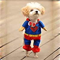 Winter Style Pet Dog Superman Clothes Costume Suit Puppy Jumpsuit Apparel, M