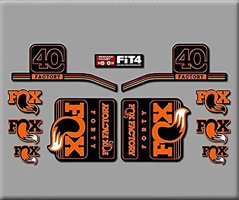 PEGATINAS FORK FACTORY FOX 40 2016 R289 STICKERS AUFKLEBER DECALS AUTOCOLLANTS ADESIVI NARANJA