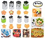 Cookie Cutters Vegetables Fruit Flowers Cutter:   Perfect cutter can help you make interesting shapes easy suit for meals, cakes, biscuits, sushi, fruits, vegetables, noodles, pudding, various appetizer. DIY colorful fruits and vegetables ar...