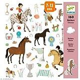Djeco DJ08881 Sticker Aufkleber Pferde 160 Stueck In Bunt Auf Boegen