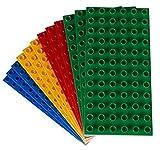 Big Briks - Premium-Bauplatten - Kompatibel mit Großen Bausteinen Aller Führenden Marken - Nur für Steine mit Großen Noppen Geeignet - 12 Stück - 7,5 x 3,75