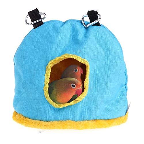 Winkey Andere (Käfige & Zubehör Beleuchtung Käfigabdeckungen Käfige Käfigständer Leitern Nester Sand & Streu Schaukeln Schmutzblenden Sitzstangen Vogelbäder (Blau, L)