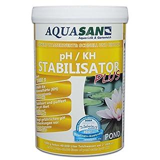 AQUASAN POND pH / KH Stabilisator PLUS (GRATIS Lieferung innerhalb Deutschlands - Sorgt für lebenswichtige und stabile Wasserwerte - KH und pH - in Ihrem Gartenteich und sorgt somit für einen stabilen pH Wert im Teich), Inhalt:2 kg