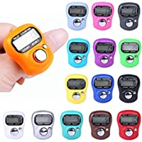 Sannysis Contador electrónico LCD digital Finger Hand Ring Knitting Row Tally Counter para Fitness y ejercicio, Deportes y aire libre, Color aleatorio