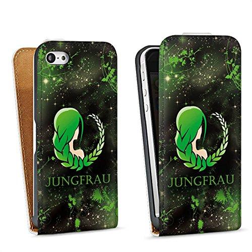 Apple iPhone 4 Housse Étui Silicone Coque Protection Signes du zodiaque Vierge Astrologie Sac Downflip blanc